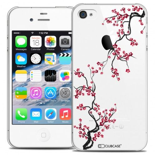 Coque Crystal iPhone 4/4s Extra Fine Summer - Sakura