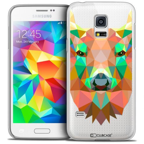 Coque Crystal Galaxy S5 Mini Extra Fine Polygon Animals - Cerf