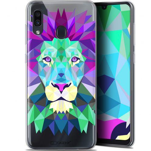 "Coque Gel Samsung Galaxy A30 (6.4"") Extra Fine Polygon Animals - Lion"