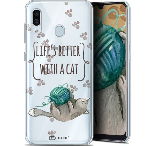 """Coque Gel Samsung Galaxy A30 (6.4"""") Extra Fine Quote - Life's Better With a Cat"""