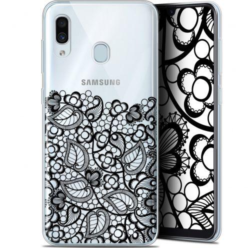 "Coque Gel Samsung Galaxy A30 (6.4"") Extra Fine Spring - Bas dentelle Noir"