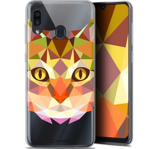 """Coque Gel Samsung Galaxy A30 (6.4"""") Extra Fine Polygon Animals - Chat"""