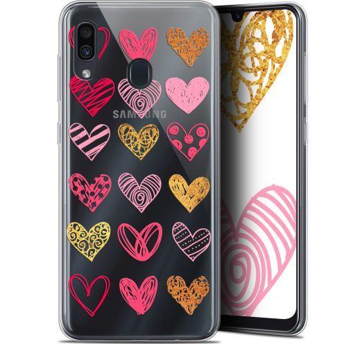 "Coque Gel Samsung Galaxy A30 (6.4"") Extra Fine Sweetie - Doodling Hearts"