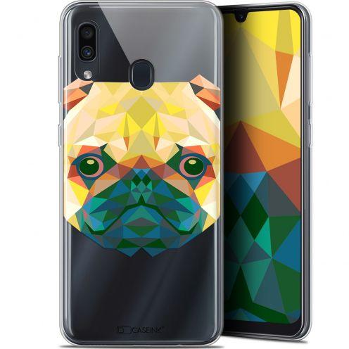 """Coque Gel Samsung Galaxy A30 (6.4"""") Extra Fine Polygon Animals - Chien"""