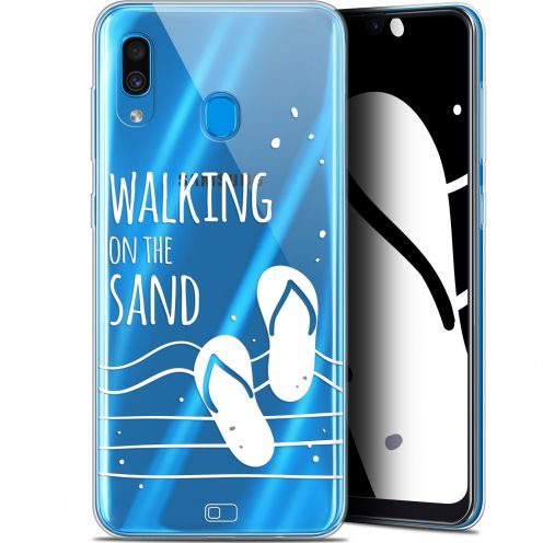 "Coque Gel Samsung Galaxy A30 (6.4"") Extra Fine Summer - Walking on the Sand"