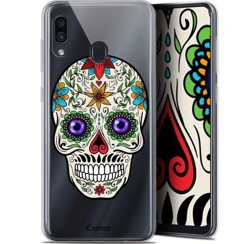 """Coque Gel Samsung Galaxy A30 (6.4"""") Extra Fine Skull - Maria's Flower"""