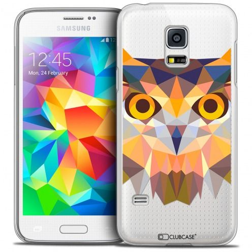 Coque Crystal Galaxy S5 Mini Extra Fine Polygon Animals - Hibou