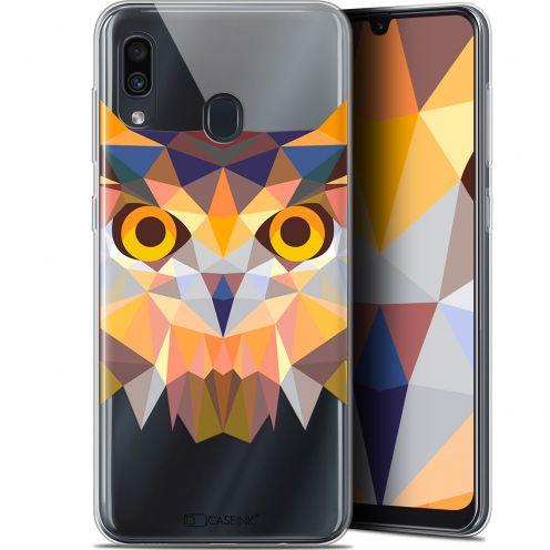 "Coque Gel Samsung Galaxy A30 (6.4"") Extra Fine Polygon Animals - Hibou"