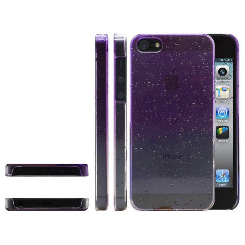 Photo réelle de Coque gouttes de pluie Raindrops iPhone 5 Violette