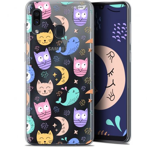 """Coque Gel Samsung Galaxy A30 (6.4"""") Extra Fine Motif -  Chat Hibou"""