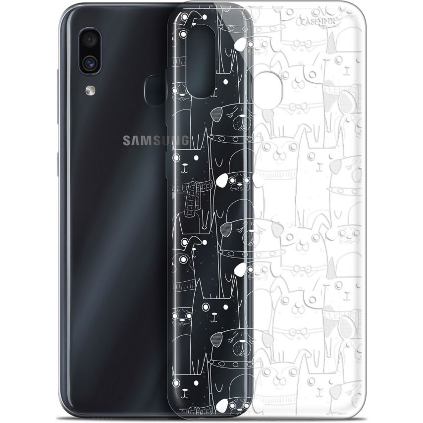 "Coque Gel Samsung Galaxy A30 (6.4"") Extra Fine Motif - Chien Blanc"