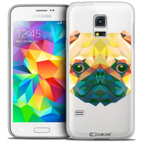 Coque Crystal Galaxy S5 Mini Extra Fine Polygon Animals - Chien