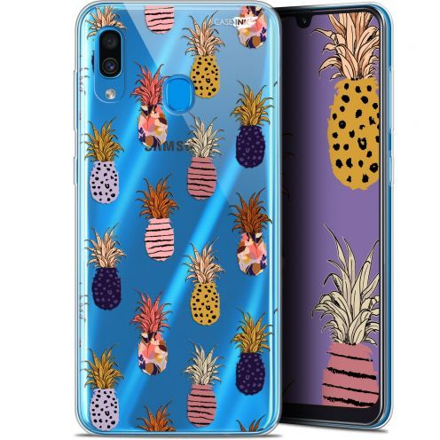 "Coque Gel Samsung Galaxy A30 (6.4"") Extra Fine Motif -  Ananas Gold"