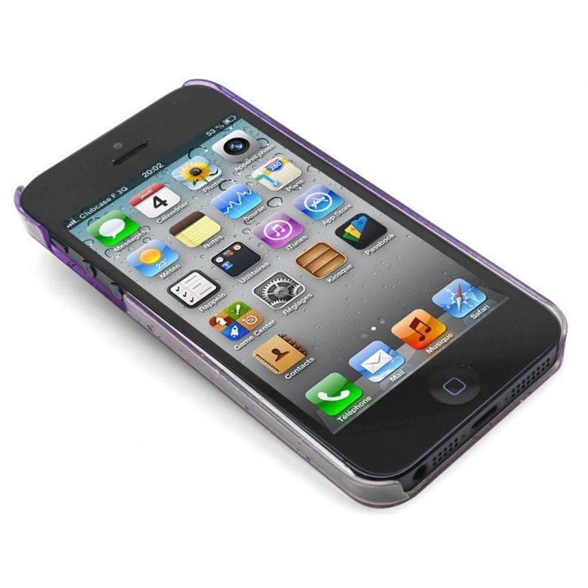 Vue portée de Coque gouttes de pluie Raindrops iPhone 5 Violette