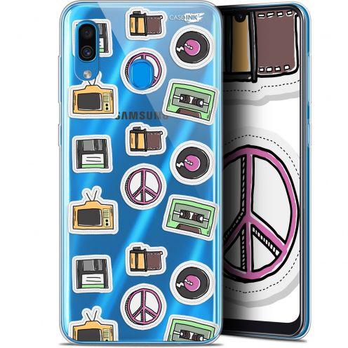 """Coque Gel Samsung Galaxy A30 (6.4"""") Extra Fine Motif - Vintage Stickers"""