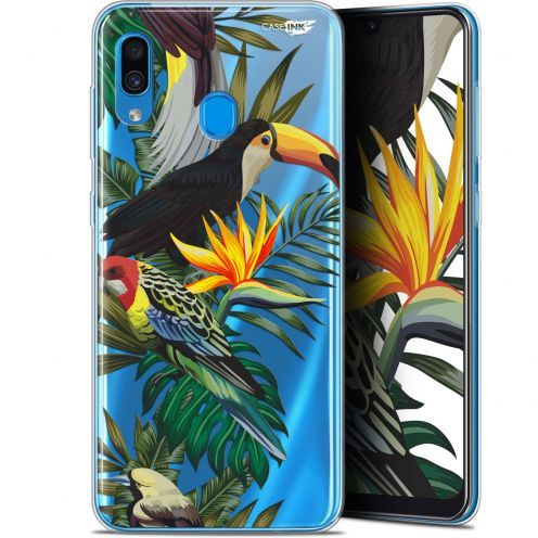 "Coque Gel Samsung Galaxy A30 (6.4"") Extra Fine Motif -  Toucan Tropical"