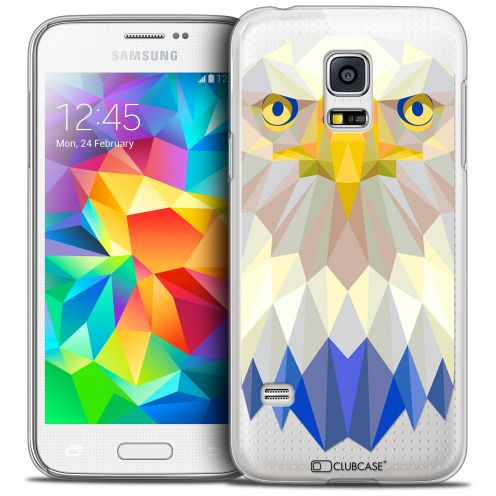 Coque Crystal Galaxy S5 Mini Extra Fine Polygon Animals - Aigle