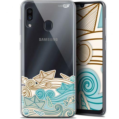 "Coque Gel Samsung Galaxy A30 (6.4"") Extra Fine Motif -  Bateau de Papier"