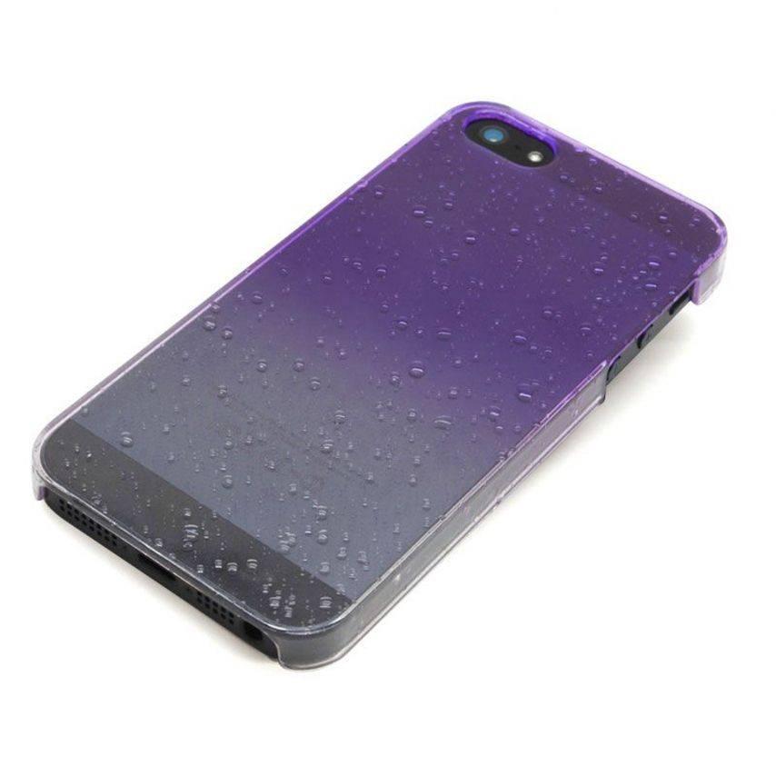 Visuel unique de Coque gouttes de pluie Raindrops iPhone 5 Violette