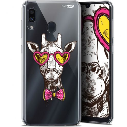 "Coque Gel Samsung Galaxy A30 (6.4"") Extra Fine Motif - Hipster Giraffe"