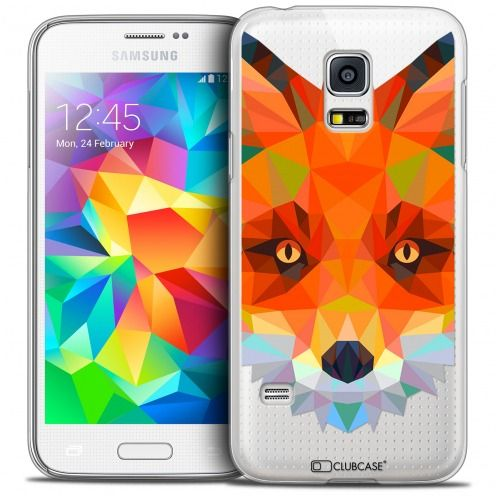 Coque Crystal Galaxy S5 Mini Extra Fine Polygon Animals - Renard