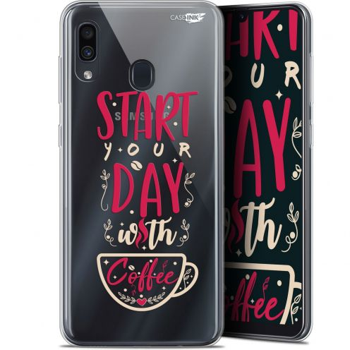 "Coque Gel Samsung Galaxy A30 (6.4"") Extra Fine Motif - Start With Coffee"