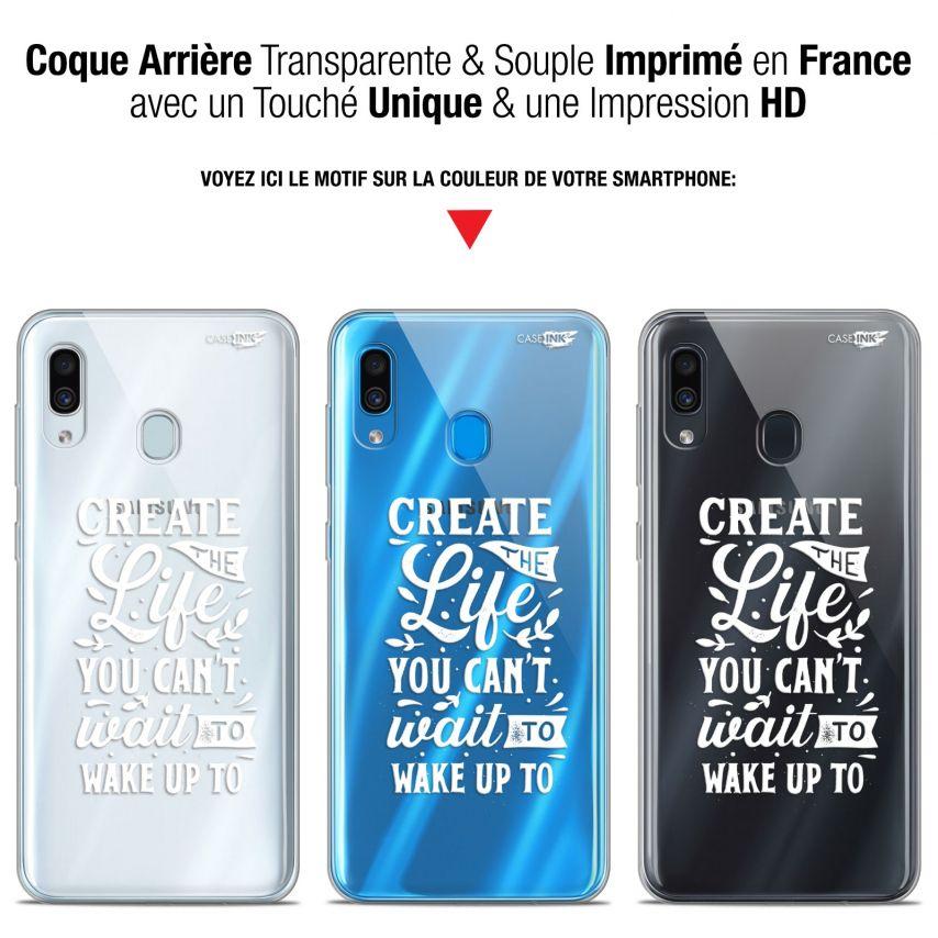 "Coque Gel Samsung Galaxy A30 (6.4"") Extra Fine Motif - Wake Up Your Life"