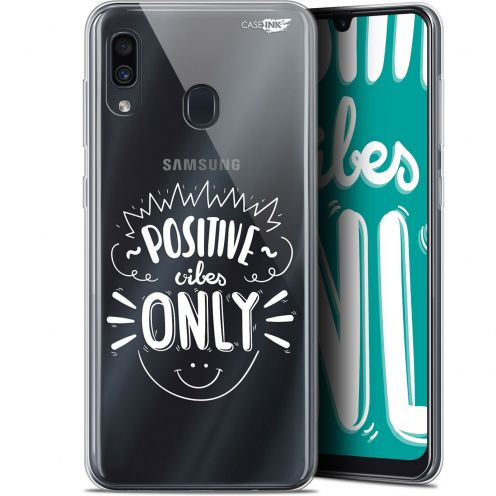 """Coque Gel Samsung Galaxy A30 (6.4"""") Extra Fine Motif -  Positive Vibes Only"""