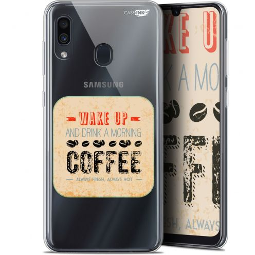 "Coque Gel Samsung Galaxy A30 (6.4"") Extra Fine Motif - Wake Up With Coffee"
