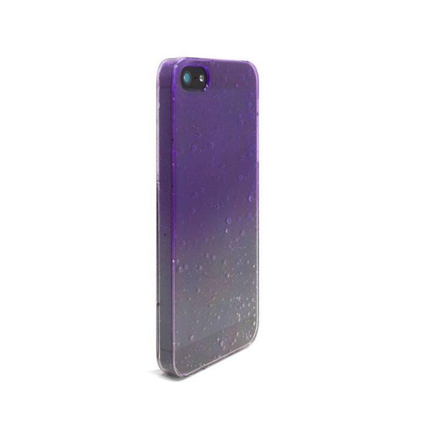 Visuel supplémentaire de Coque gouttes de pluie Raindrops iPhone 5 Violette