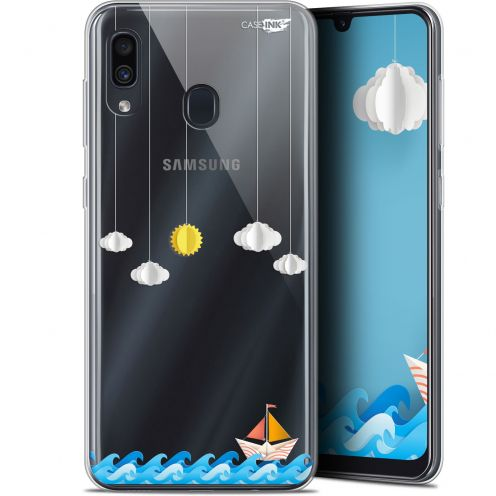 """Coque Gel Samsung Galaxy A30 (6.4"""") Extra Fine Motif -  Petit Bateau en Mer"""