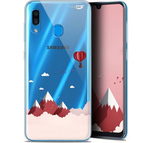 """Coque Gel Samsung Galaxy A30 (6.4"""") Extra Fine Motif -  Montagne En Montgolfière"""