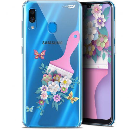"Coque Gel Samsung Galaxy A30 (6.4"") Extra Fine Motif - Pinceau à Fleurs"