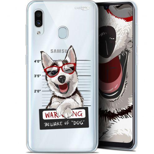 "Coque Gel Samsung Galaxy A30 (6.4"") Extra Fine Motif - Beware The Husky Dog"