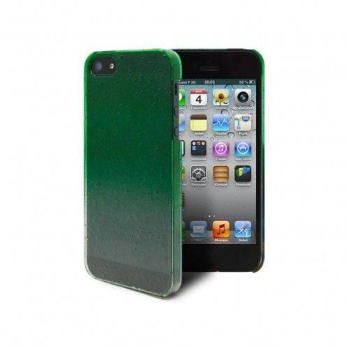 Vue complémentaire de Coque gouttes de pluie Raindrops iPhone 5 Verte