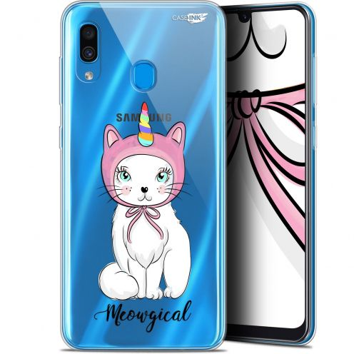 "Coque Gel Samsung Galaxy A30 (6.4"") Extra Fine Motif -  Ce Chat Est MEOUgical"