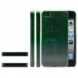 Photo réelle de Coque gouttes de pluie Raindrops iPhone 5 Verte