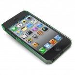 Vue portée de Coque gouttes de pluie Raindrops iPhone 5 Verte