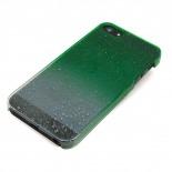 Visuel unique de Coque gouttes de pluie Raindrops iPhone 5 Verte