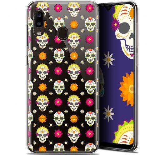 "Coque Gel Samsung Galaxy A20 (6.4"") Extra Fine Halloween - Skull Halloween"