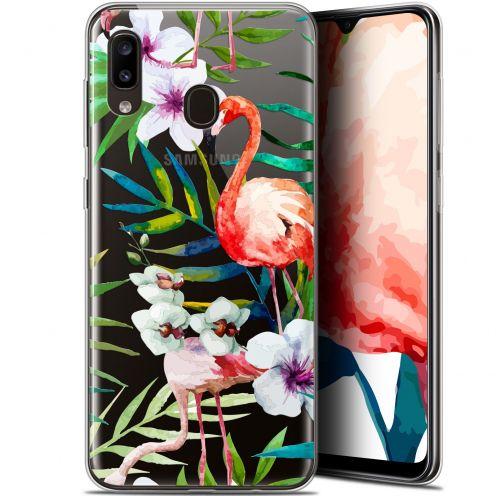 """Coque Gel Samsung Galaxy A20 (6.4"""") Extra Fine Watercolor - Tropical Flamingo"""