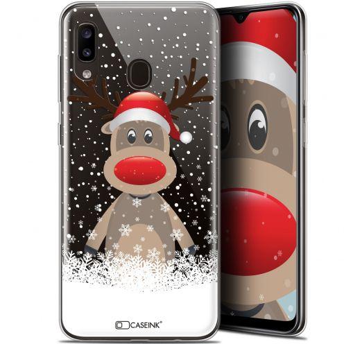 """Coque Gel Samsung Galaxy A20 (6.4"""") Extra Fine Noël 2017 - Cerf au Bonnet"""
