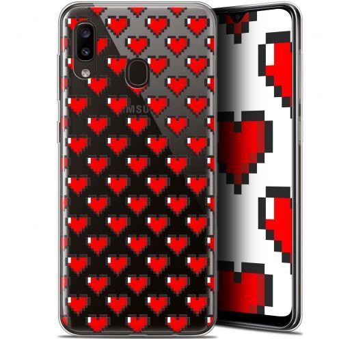 "Coque Gel Samsung Galaxy A20 (6.4"") Extra Fine Love - Pixel Art"