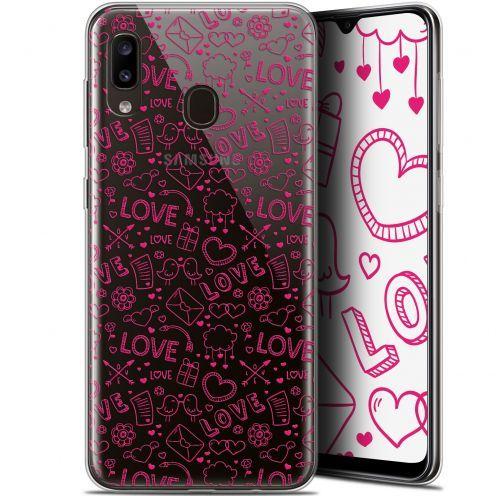 """Coque Gel Samsung Galaxy A20 (6.4"""") Extra Fine Love - Doodle"""