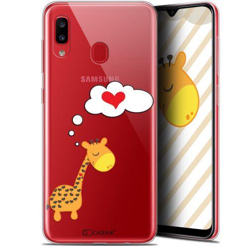 "Coque Gel Samsung Galaxy A20 (6.4"") Extra Fine Love - Girafe Amoureuse"