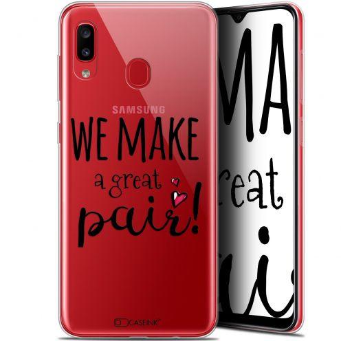 "Coque Gel Samsung Galaxy A20 (6.4"") Extra Fine Love - We Make Great Pair"