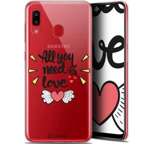 """Coque Gel Samsung Galaxy A20 (6.4"""") Extra Fine Love - All U Need Is"""
