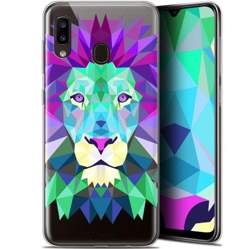 "Coque Gel Samsung Galaxy A20 (6.4"") Extra Fine Polygon Animals - Lion"