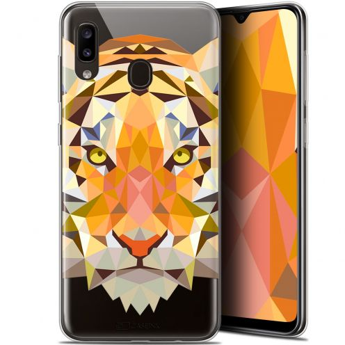 """Coque Gel Samsung Galaxy A20 (6.4"""") Extra Fine Polygon Animals - Tigre"""