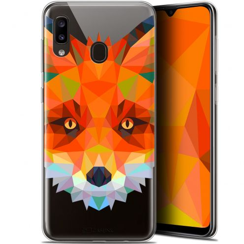 """Coque Gel Samsung Galaxy A20 (6.4"""") Extra Fine Polygon Animals - Renard"""